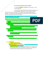 Template for Persuasive Speech Outlines