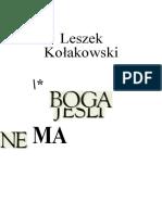 8220334 Jesli Boga Nie Ma Leszek Kołakowski