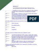Teste de Direito Administrativo 17
