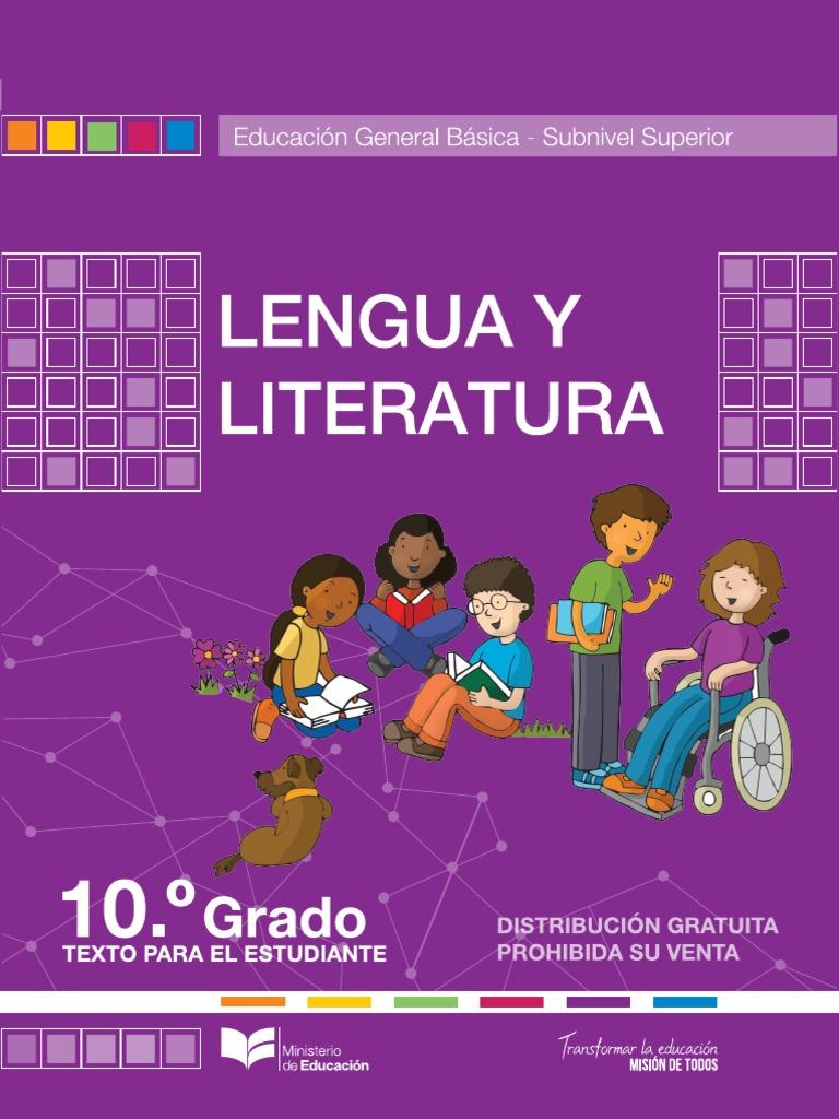 Texto de Lengua y Literatura 10mo