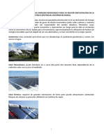 Retos Que Enfrentan Las Energías Renovables Para Su Mayor Participación en La Generación de Energía Eléctrica