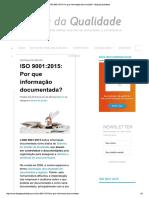 ISO 9001 2015-Por Que Informação Documentada