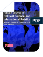 African Journal OfPolitical Science and International Relations