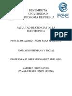 Proyecto Formacion Huamana y Social