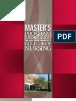 OSU College of Nursing Master's Brochure