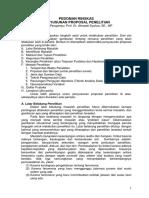 Pedoman Ringkas Penulisan Proposal 2014