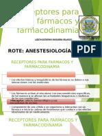 Receptores Para Farmacos y Farmacodinamia