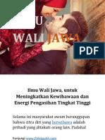 Ilmu Pelet Wali Jawa