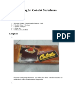 Donat Goreng Isi Cokelat Sederhana