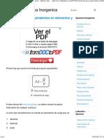 Calculo de Pesos Equivalentes en Elementos y Compuestos - Quimica _ Quimica Inorganica