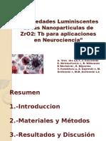 Propiedades Luminescentes de Las Nanopartículas de ZrO2