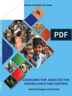 Guidelines for Aedes Vector Surveillance and Control