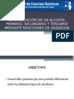 Diferenciación de Un Alcohol 1°, 2° y  3°