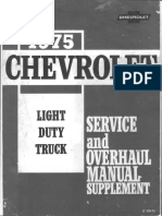 ST 330-75-1975 Chevrolet Light Truck Service Overhaul Supplement