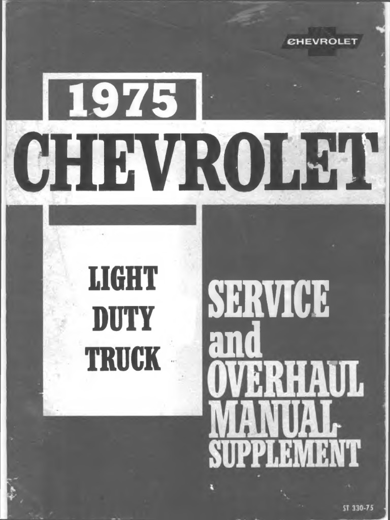St 330 75 1975 chevrolet light truck service overhaul supplement st 330 75 1975 chevrolet light truck service overhaul supplement truck motor oil fandeluxe Choice Image
