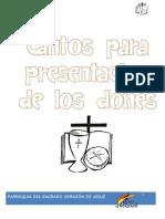 Cantoral Presentación de Los Dones Con Acordes 2017
