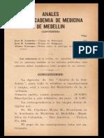Anales de La Academia de Medicina de Medellín Vol. 2 No. 23 y 24, 1934. Segunda Época.