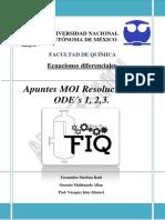 Apuntes MOI resolución de ODE´s 1,2,3. Entregable