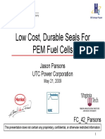 Low Cost - Durable Seals for PEM Fuel Cells