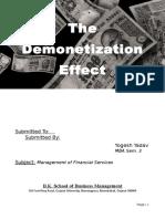333163029 the Demonetization Effect