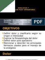 Analgesia Y DOLOR Post Operatorio