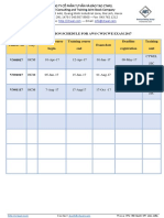 AWS CWI Exam Schedule 2017 (CTWEL Agent) - HCM