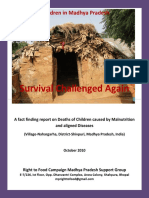 Survival Challenged Again - A fact finding report on Deaths of Children caused by Malnutrition and aligned Diseases