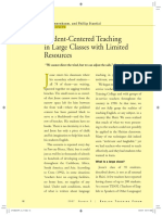 Student-Centered Teaching in Large Classes with Limited Resources