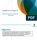 WBS Element vs Network Activities