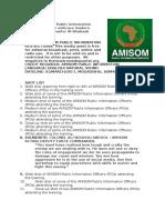AMISOM Public Information Officers Urged to Embrace Modern Technology to Counter Al-Shabaab Propaganda