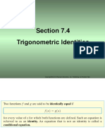 Section 7.4 Trigonometric Identities