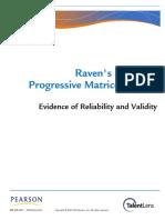 Ravens_SPM evidence of Reliability Validity.pdf
