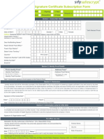 DSC Subscription Form