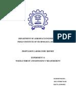 Nozzle Performance Report