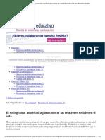 El Sociograma - Encuentro Educativo