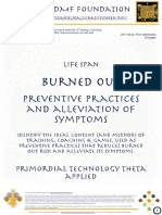 BURNED-OUT-Preventive Practices & Alleviation of Symptoms