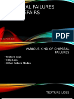 Chipseal Failures and Repairs