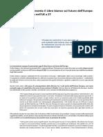 Libro Bianco Sul Futuro Dell'UE