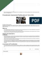 Procedimento Operacional Padrão Para Um Torno CNC