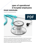 4 Major Types of Operational Waste That Hospital Employees Must Eliminate