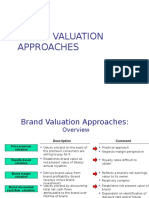 Brand Valuation Approach