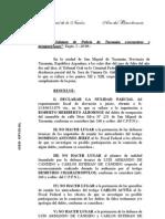 Fallo completo - Condenaron a prisión perpetua a Menéndez en juicio oral en Tucumán
