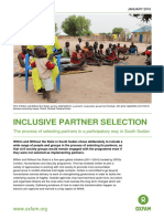 Inclusive Partner Selection in South Sudan:The process of selecting partners in a participatory way in South Sudan