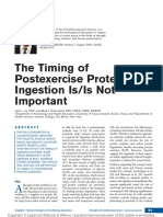 Timing of Postexercise Protein Ingestion