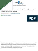 5 ejes del Comité de Consumo y Producción Sustentables para tener ciudades sustentables en Chile | A