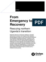 From Emergency to Recovery