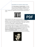 BREVE RESEÑA BIOGRÁFICA DE FEDERICO GARCÍA LORCA