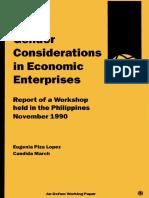Gender Considerations in Economic Enterprises