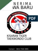 Brosur Kisaran Tiger Taekwondo