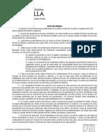 Contestación de la Consejería de Bienestar Social a Coalición por Melilla